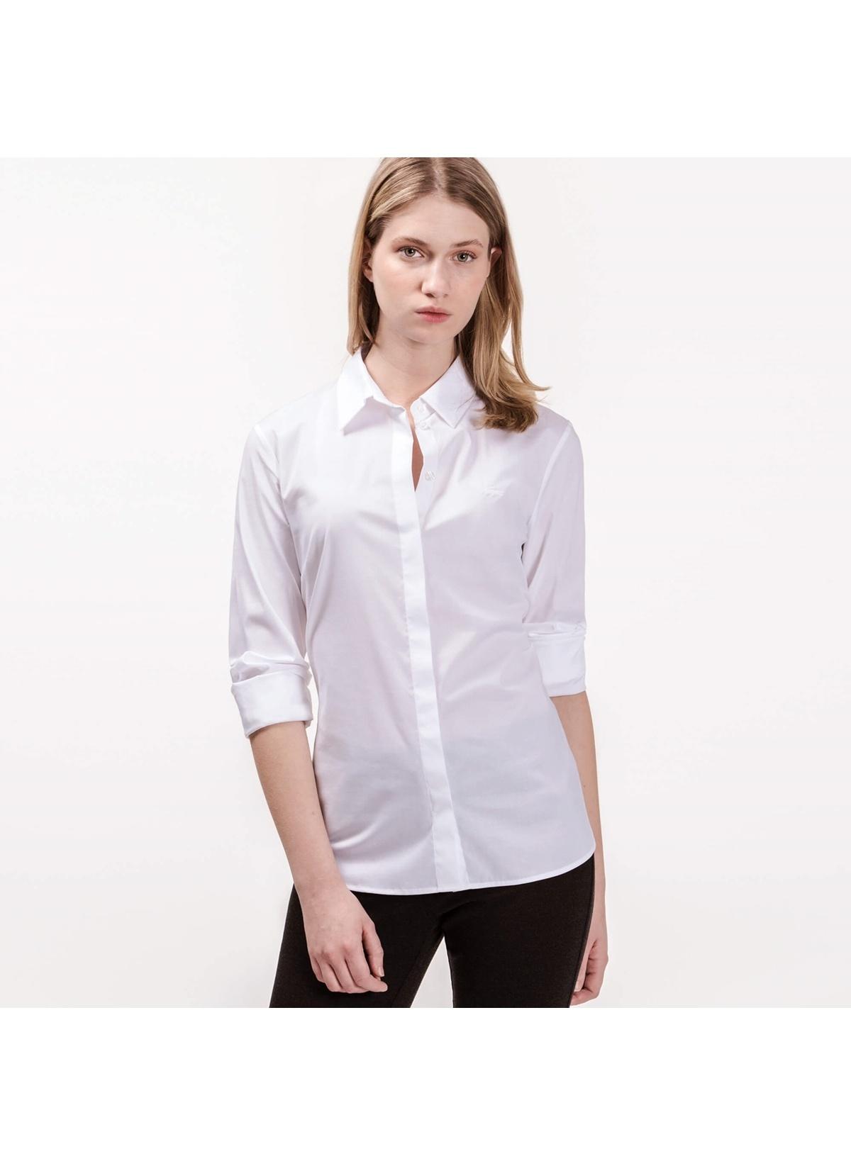 Lacoste Gömlek Cf7907.001 Lacoste Kadın Beyaz Gomlek – 479.0 TL